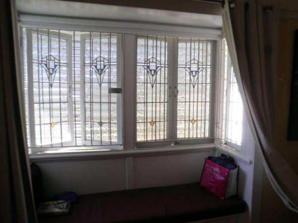 Casement leadlight windows